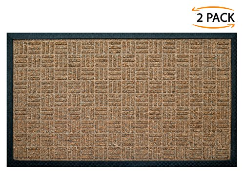 Iron Gate 2 Pk Gatekeeper Doormat 18x30 Tan - Extremely sturdy and rugged construction 69 Ounces/6000 GSM - Polypropylene surface & Rubber back for better floor grip - Indoor/Outdoor use (Face Reinforced Rubber)