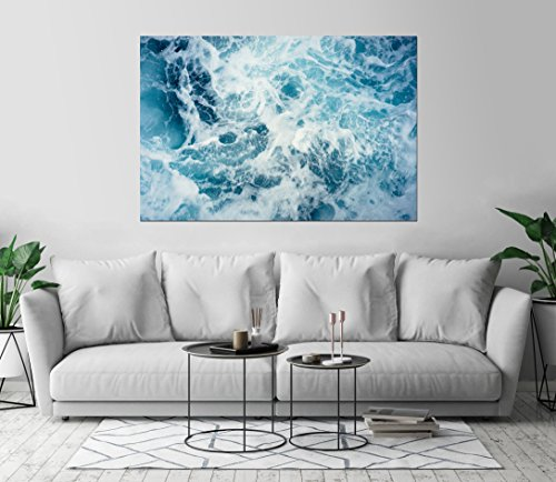Kraska Blue Ocean Sea Water Foam Art Print Wall Decor Image
