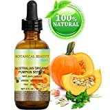 """Botanical Beauty Organic Pumpkin Seed Oil Australian. 100% Pure / Natural / Undiluted /Unrefined Cold Pressed Carrier Oil. 4 Fl.oz.- 120 ml. For Skin, Hair, Lip And Nail Care. """"One Of The Richest Sources Of Enzymes, Fatty Acids, Iron, Zinc, Vitamins A, C, E And K""""."""
