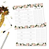 Pink Floral Weekly Meal Planning Calendar Grocery