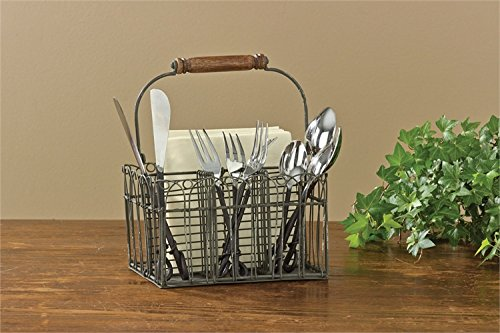 Farm Style Wire Utensil and Napkin Holder Caddy by Park Designs
