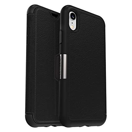info for a7ec1 e0e37 OtterBox Strada Series Case for iPhone XR - Retail Packaging - Shadow  (Black/Pewter)