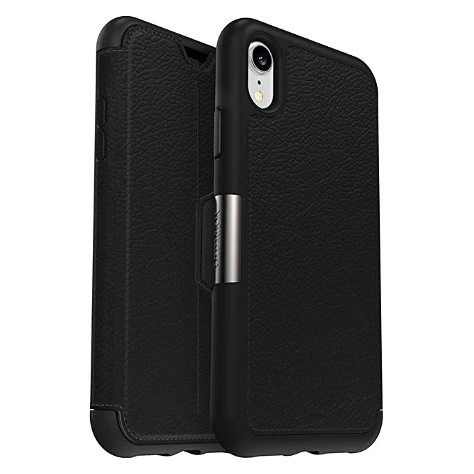 new product 81ea1 f3d50 OtterBox Strada Series Case for iPhone Xr - Frustration Free Packaging -  Shadow (Black/Pewter)