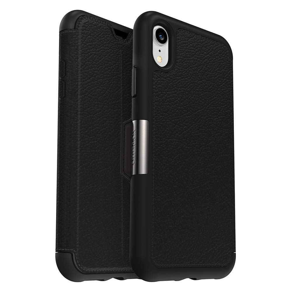 OtterBox Strada Series Case for iPhone XR - Retail Packaging - Shadow (Black/Pewter)