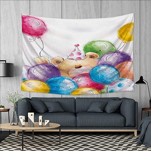Anhuthree Kids Birthday Tapestry Wall Hanging 3D Printing Ha