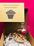 valentines baking sprinkles - Friend Wife Bestie Cupcake Gift | You're the Sprinkles on my. Cupcake Charm and Glass Ornament Sweet Tooth Gift for Best Friend Girlfriend Sweetheart