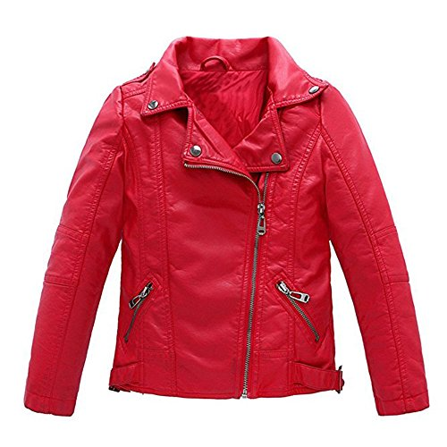 Red Motorcycle Leather Jacket - 7