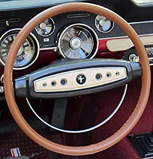 product image for Wheelskins Genuine Leather Tan Steering Wheel Cover Compatible with Pontiac Vehicles -Size A