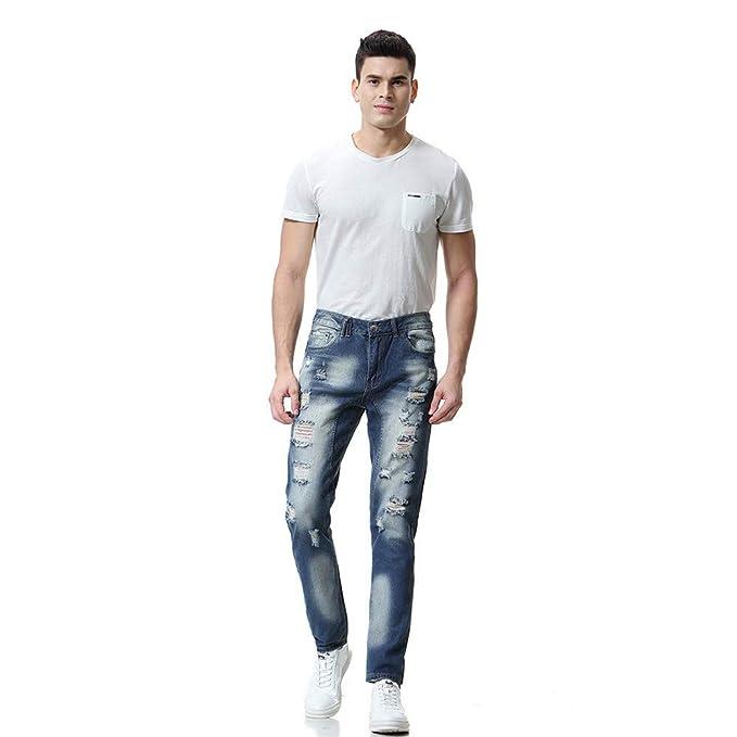 FELZ Pantalones de Mezclilla, Pantalones Vaqueros Rectos ...