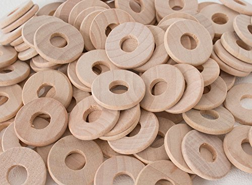 (Wooden Washers - Pack of 100 - 1