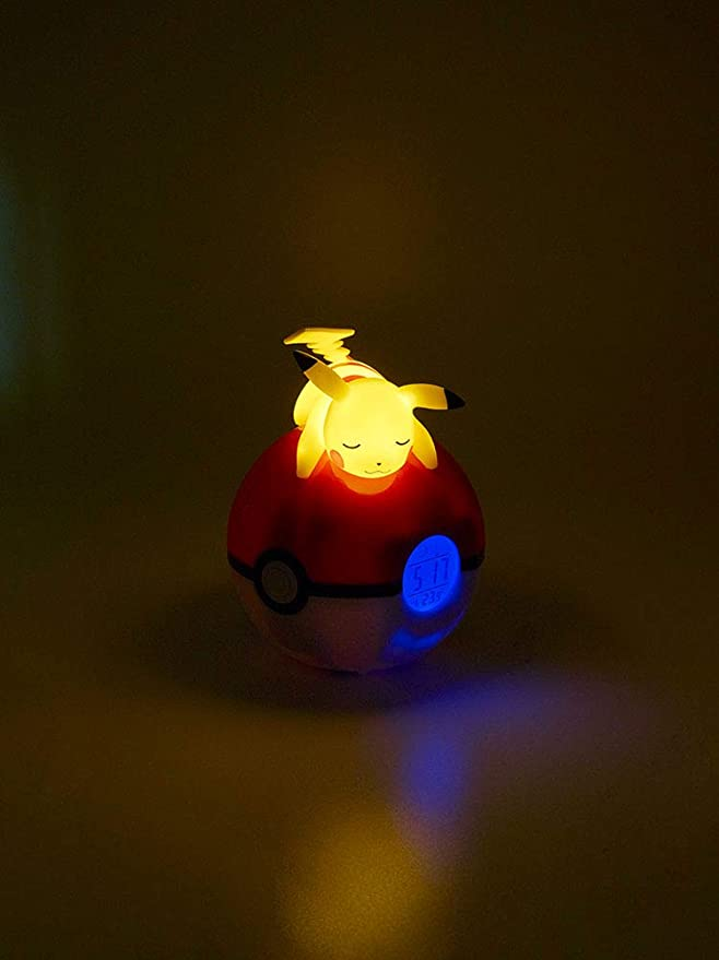 Teknofun Pokémon - Radio Despertador Luminoso Pikachu: Amazon.es ...