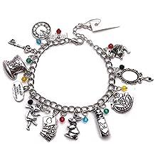 11 Pcs Alice in Wonderland Charm Bracelet