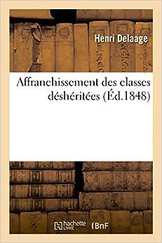 Affranchissement des classes déshéritées (Litterature)