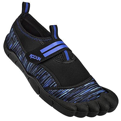 Rockin Footwear Unisex Rockin Aqua Bay Foot Water Shoe, Blue, US Size: 11 Regular US Big Kid