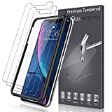LK [3 Pack] Screen Protector for iPhone XR, [Tempered Glass][Case Friendly] DoubleDefence with Lifetime Replacement Warranty