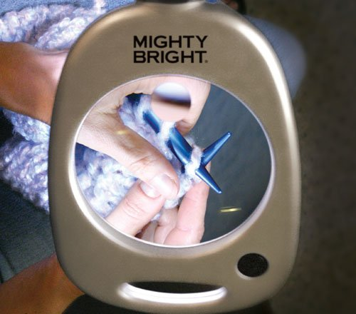 Mighty Bright 67112 Floor Light And Magnifier Silver