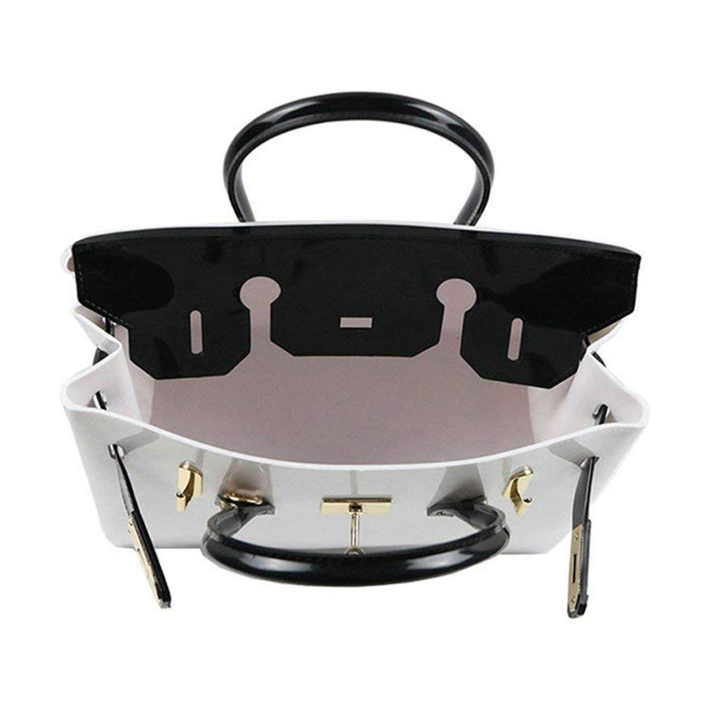 db42b7d7f0f6 Amazon.com  Huasen Evening Bag New Jelly Beach Bag PVC Material Soft Fabric  Ladies Large Capacity Handbag Party Handbag (Color   A