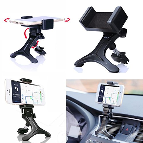 Mchoice Black Car Air Vent Mount Cradle Holder Stand for Mobile Smart Cell Phone (Vent Tester)