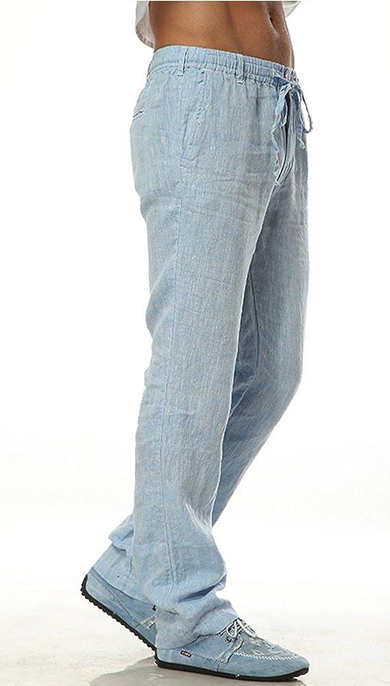 Otras Marcas De Ropa Insun Pantalon De Lino Casual Y Chic Verano Playa Y Actividad De Ocio Lino Pantalon Para Hombre Ropa Aceautocare Net
