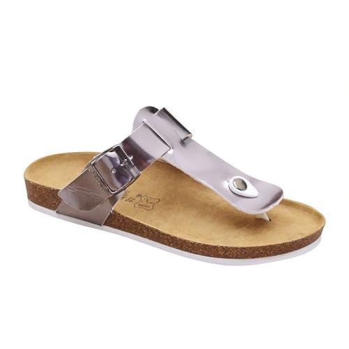 ZhuiKun Donna Sandali Sughero - Pantofole Infradito Eleganti - Ciabatte  Comodi Argento EU 39  Etichetta 40  Amazon.it  Scarpe e borse c8166b5a0c3