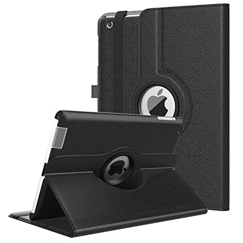 TiMOVO iPad 2/3/4 Case - 360 Degree Rotating Case Smart Leather Stand Cover Swivel Case with Auto Wake/Sleep for iPad 2 / iPad 3 (3rd Gen) / iPad 4 Tablet - Black