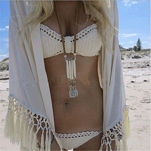 a bagno manualmente gancio da tutti moda bikini sexy Beachwear spiaggia moda codice bianco costume maglia set dimagrante TIANLU pin 67Ow1Y1q
