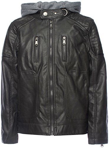 Urban Republic Boys' Faux Leather Moto Jacket With Zips