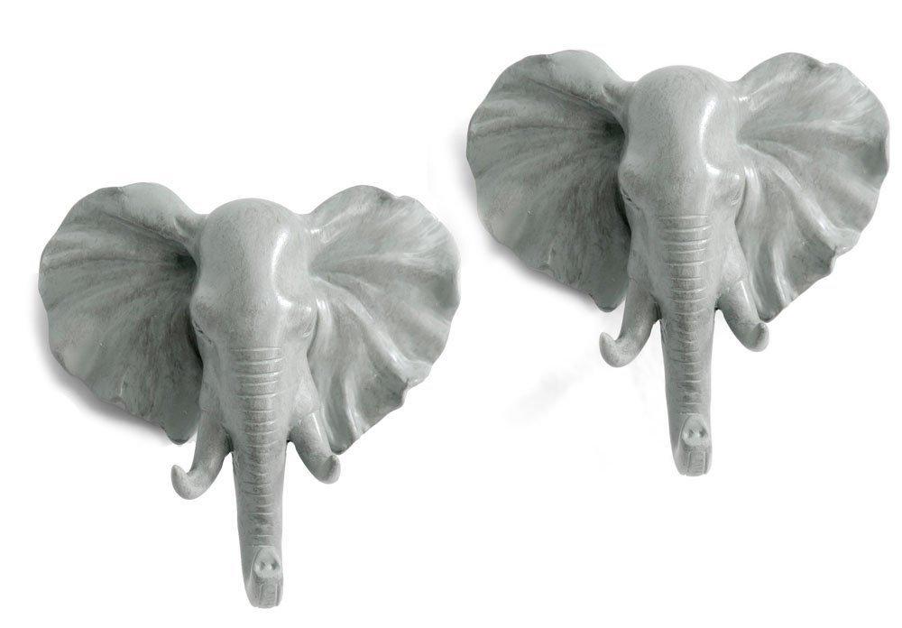 2pcs Hanger Elephant / Deer Head Animal Coat Hat Hook Heavy Duty - Wall Decoration