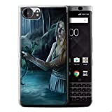 Official Elena Dudina Gel TPU Phone Case / Cover for Blackberry KeyOne/BBB100 / Water/Baby Design / Dragon Reptile Collection