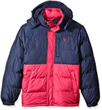 U.S. Polo Assn. Men's Congressional Cup Short Bubble Jacket, Chili Pepper, L
