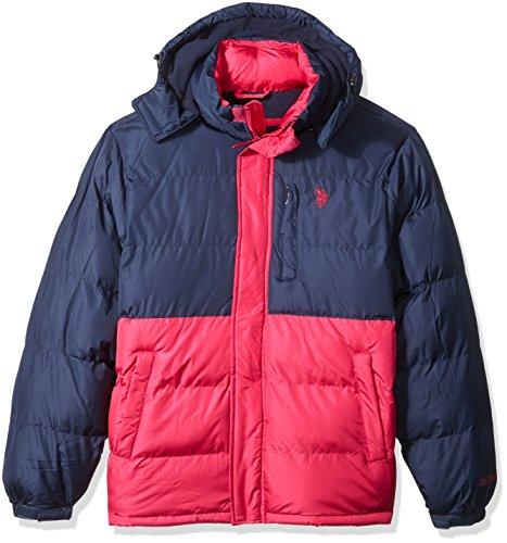 U.S. Polo Assn. Men's Congressional Cup Short Bubble Jacket, Chili Pepper, XL