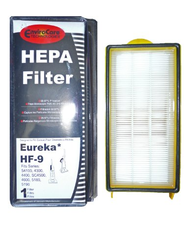 Self Propelled Filter ((1) 60285 Eureka HF9 Hepa Pleated Vacuum Filter, Bagless Cyclonic, Heavy Duty Upright, Self Propelled, Cleaner & Cyclonic, Limited Edition, Victory ACSA, Cleaner, Cyclonic, Hepa, Powerline Limited, Whirlwind, Boss, Smart Vac, Sanitaire Commercial Vacuum cleaners, 60285A, 60285B, 60285C, 60285D)