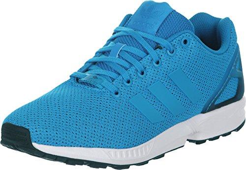 Les Hommes Adidas Zx Baskets Flux Multicolore (bleu / Noir Blanc)