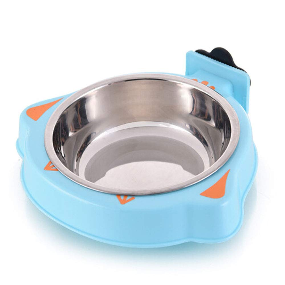 bluee Dog Bowl,Fixed Stainless Steel Dog Bowl Suitable for Pet Cat Puppy Feeding- Pink Very Good (color   bluee)