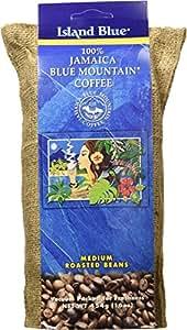Island Blue 100% Jamaica Blue Mountain Whole Beans Coffee (16oz)
