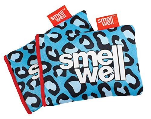 SmellWell | Shoe Deodorizer & Natural Odor Absorber | Natural Bamboo Charcoal Air Purifying Bag/Moisture Remover | For All Shoes, Boxing Gloves, Gym Bags, Lockers & Closets | Set of 2 |