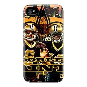 Tpu Case For Iphone 4/4s With New Orleans Saints