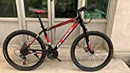 """Sibog Mountain Bike - 600-S Off Road Bicycle with 26"""" Wheels - 21 Speed, Disc Brakes, High Carbon Steel F"""