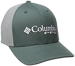 Columbia Adult Pfg Mesh Ball Cap, Pondcool Grey Hook, Smallmedium