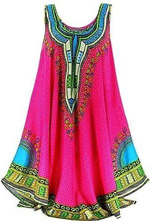 b36bc039442 Charleselie94 - Robe Tunique Longue Ethnique Bohème Fushia - Incas - - Rose  44