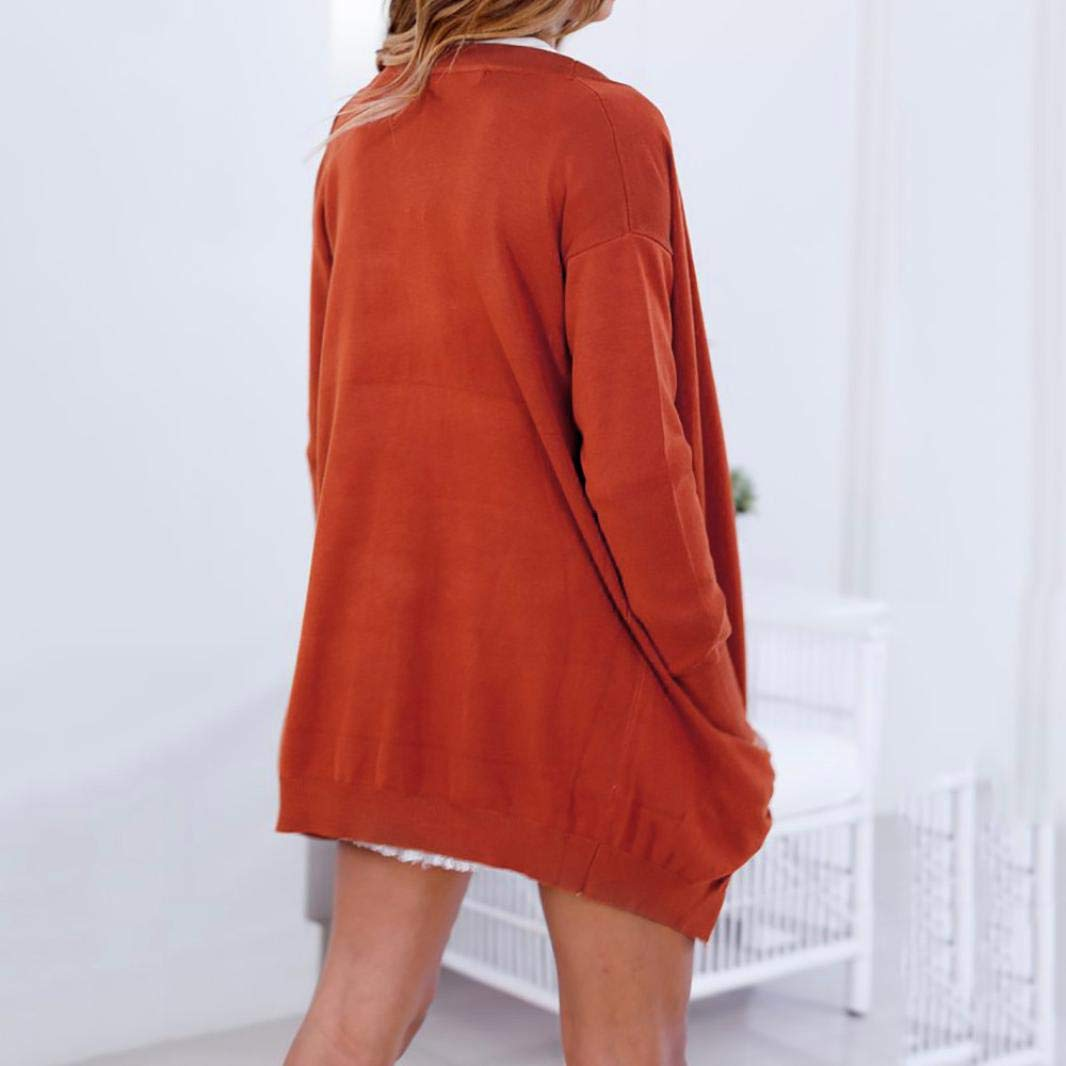 Spbamboo Women Sweaters Long Sleeve Solid Open Front Cardigans With Pocket Tops by Spbamboo (Image #4)