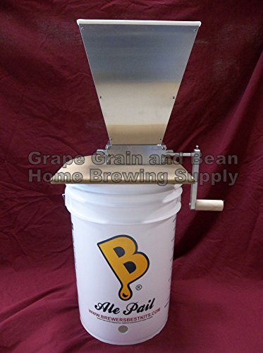 New ! 2 Rollers malt mill grain mill home brew mill barley crusher with Good quality by JA BEER HOUSE