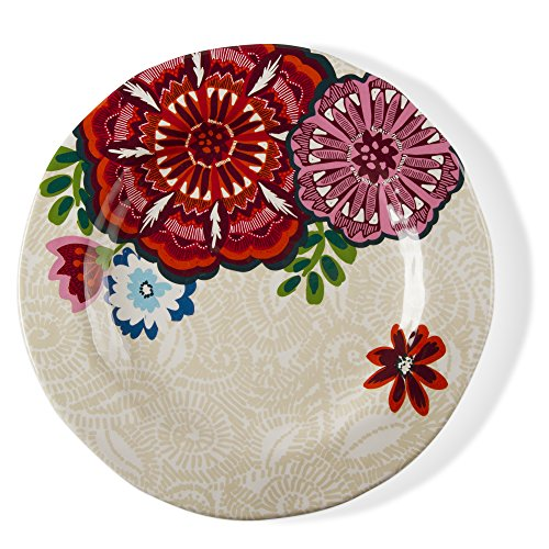 tag - Talavera Melamine Dinner Plate, Durable, BPA-Free and Great for Outdoor or Casual Meals, Apricot (Set Of 4)