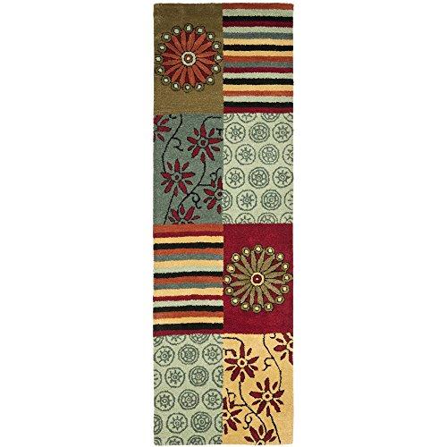 (Safavieh Soho Collection SOH817A Handmade Multicolored Premium Wool Runner (2'6