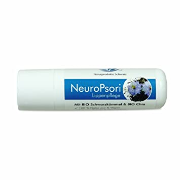 c49de4bdf64ccc Naturprodukte Schwarz - NeuroPsori Lippenpflege mit BIO Schwarzkümmel   BIO  Chia - Vegan