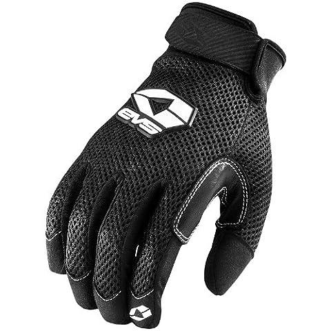 EVS Laguna Air Men's Textile Vented Sports Bike Racing Motorcycle Gloves - Black / Large - Textile Motorcycle Gloves