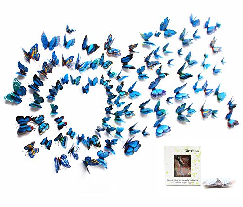 12PCS 3D PVC Magnet Butterflies DIY Wall Sticker Home Decor Yellow - 1