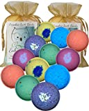 #10: Bath Bombs Double Gift Set, 12 Wholesale Vegan, Handmade in USA with Organic Coconut Oil, Cruelty Free, PABA Free, from Enhance Me