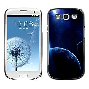 La más brillante estrella de la noche - Metal de aluminio y de plástico duro Caja del teléfono - Negro - Samsung Galaxy S3