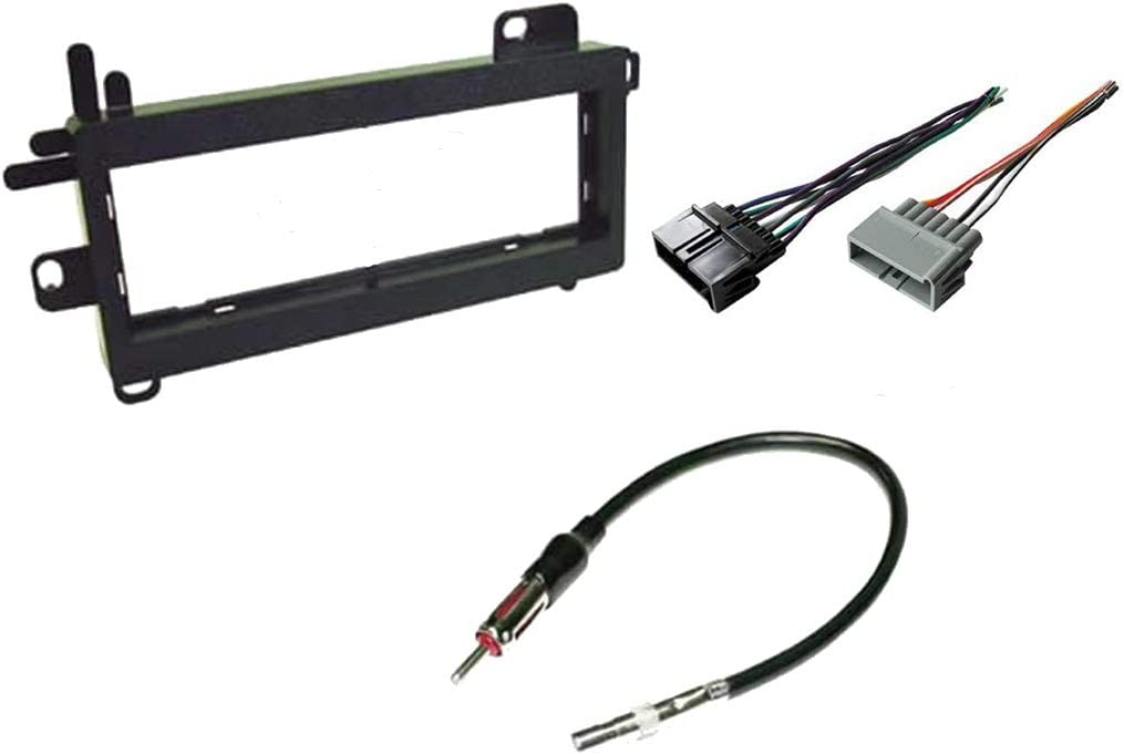 Amazon.com: Carxtc Combo Fits Jeep Wrangler 1997 1998 1999 2000 2001 2002 Stereo  Wiring Harness, Dash Install Kit Faceplate, with FM Antenna Adaptor  (Aftermarket Stereo Wire and Installation Kit): Car Electronics | 2003 Jeep Wrangler Radio Wiring Harness Adapter |  | Amazon.com